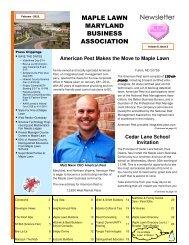 Maple Lawn Newsletter FEB-11 - Bozzuto Maple Lawn