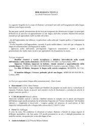 BIBLIOGRAFIA TESTI L2 (a cura di Francesca ... - Vannini Editrice