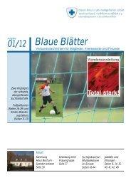 Blaue Blätter 1-2012 - Alter Auftritt
