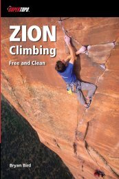 ing Zion Climbing: Free and Clean - SuperTopo