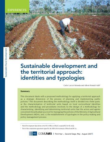 Sustainable development and the territorial approach: identities and ...