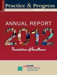 2012 Nursing Practice and Progress Annual Report (pdf) - UW Health