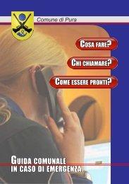 Guida Comunale in caso di emergenza (pdf 1.42 ... - Comune di Pura