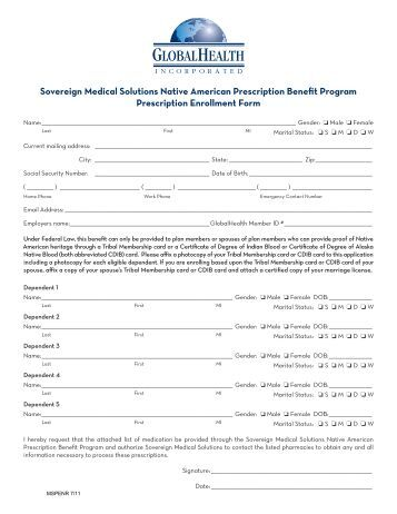 Participant Enrollment Form  Holbrook Travel