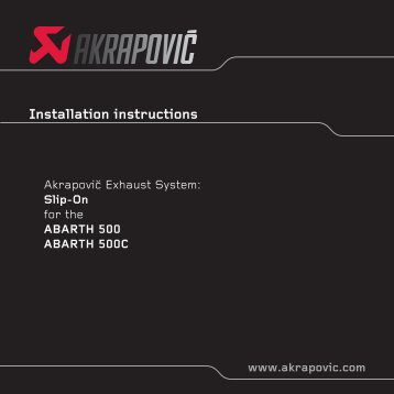 Installation instructions - TurboPerformance Shop