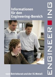 Informationen für den Engineering-Bereich - IG Metall 4 you