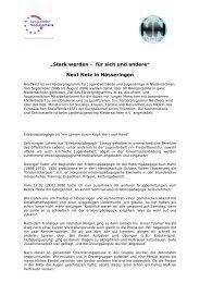 Stark werden - für sich und andere - Jugendserver Niedersachsen