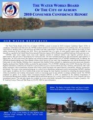 2010 Consumer Confidence Report - City of Auburn