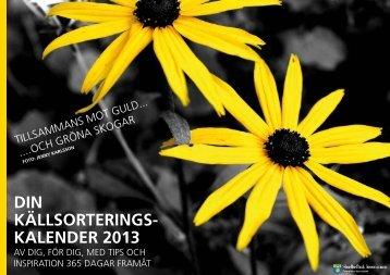 Källsorteringskalender 2013 (pdf, nytt fönster) - Skellefteå kommun