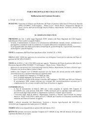 Variazione di bilancio per Redazione del Piano di gestione della ...