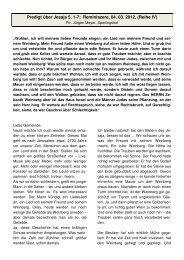 Predigt über Jesaja 5, 1-7; Reminiszere, 04. 03 ... - Ispringen.elkib.de