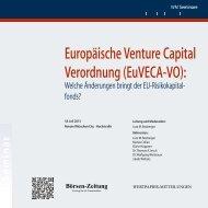 Europäische Venture Capital Verordnung (EuVECA-VO):