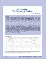 Beta-Carotene - Alternative Medicine Review