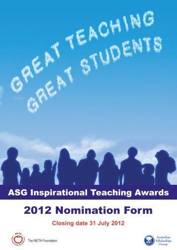 2012 Nomination Form - Mercedes College