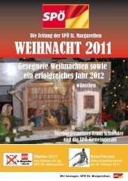 Weihnacht 2011 - SPÖ St. Margarethen