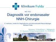 Diagnostik vor endonasaler NNH-Chirurgie