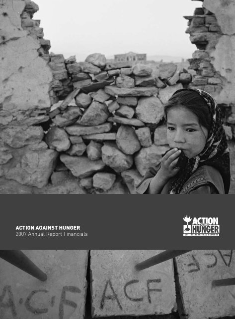 Action Against Hunger Financial Report 2007
