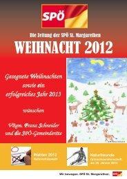 Weihnacht 2012 - SPÖ St. Margarethen
