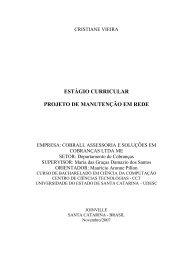 estágio curricular projeto de manutenção em rede - Pergamum ...