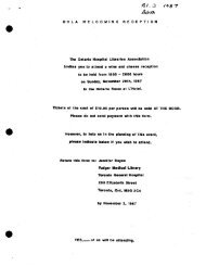 1987 - Ontario Health Libraries Association