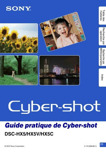 Guide pratique de Cyber-shot - Planete pixel
