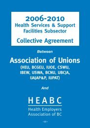 Facilities Collective Agreement 2006-2010 - Labour Relations Board