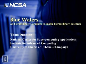 Blue Waters - Frontiers in Computational & Information Sciences ...