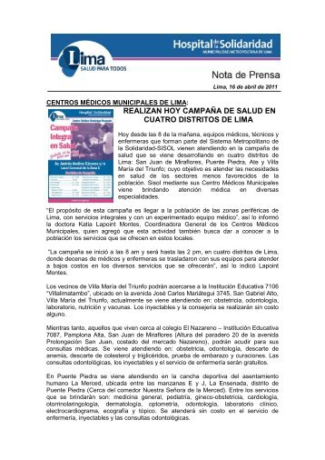 CMM VILLA LIMATAMBO: ROXANA CANALES - Sistema ...