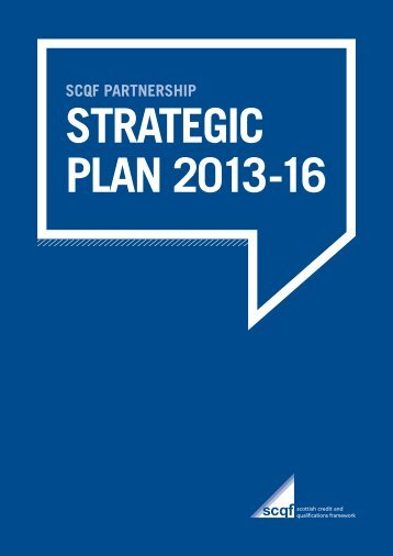 SCQFP Strategic Plan.. - Scottish Credit and Qualifications Framework