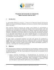 Descargar bases 2009 - Universidad Católica de Temuco