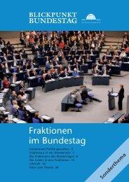 Fraktionen im Deutschen Bundestag