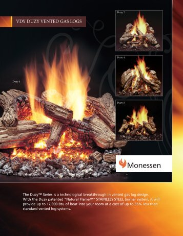 VDY Duzy Vented Gas Log - the Fireplace Warehouse