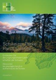 Flyer Netzwerk Schweizer Pärke - Parc régional Chasseral