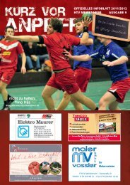 Ausgabe 9 2011/2012 - HTV Meissenheim