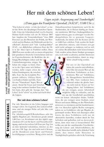 Demo gegen den Frankfurter Opernball, 24.02 - Gruppe dissident