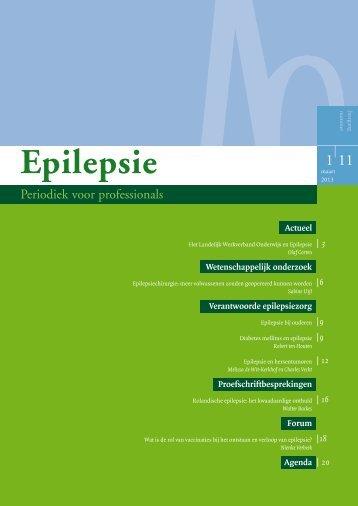 Epilepsie, periodiek voor professionals (maart 2013) - Nederlandse ...