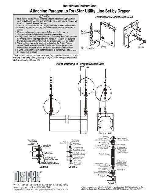 Torkstar Screen Mounting Instructions