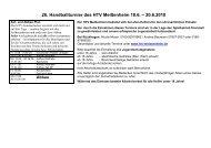 26. Handballturnier des HTV Meißenheim 18.6. – 20.6.2010