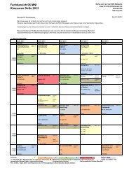 Fachbereich 06 MNI Klausuren SoSe 2013