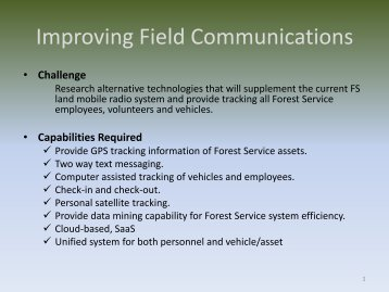 Improving Field Communications - Wildland Fire