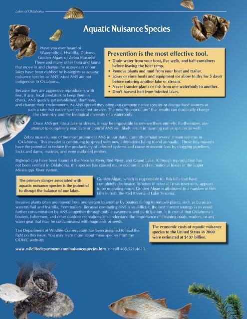 Aquatic Nuisance Species - Lakes Of Oklahoma