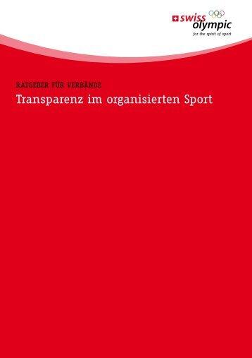 transparenz im organisierten Sport - ZKS