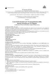 Corsi di formazione per il conseguimento della Patente Europea per ...