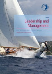 Leadership and Management Infobroschüre - B4B Schwaben
