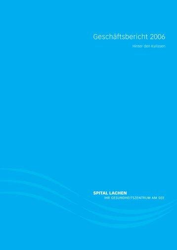 Geschäftsbericht 2006 - Spital Lachen