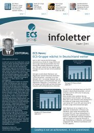 ECS Germany Newsletter I/2012 - Globe Air Cargo