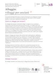 villaggi per anziani - Seniors Information Service