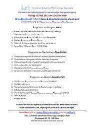 Freitag 10. Mai 2013 um 10:00 in Wien Programm am Morgen: Natur ...