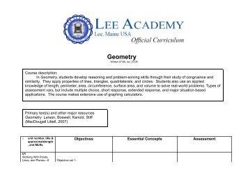 Geometry - Lee Academy