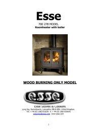 WOOD BURNING ONLY MODEL - Esse
